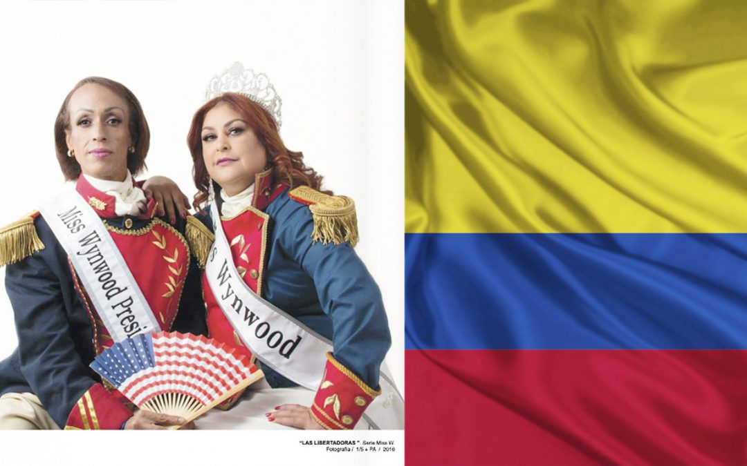 Miss W seeks your vote in the Contemporary Art Museum in Bogota