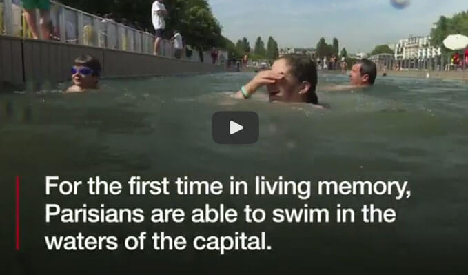 Paris swimming ban lifted
