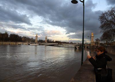 Paris Turista Inundacion
