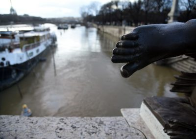Paris inundaciones pie