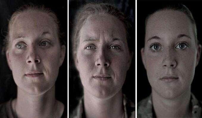 Fotografías que nos muestran cómo la guerra cambia los rostros de los soldados