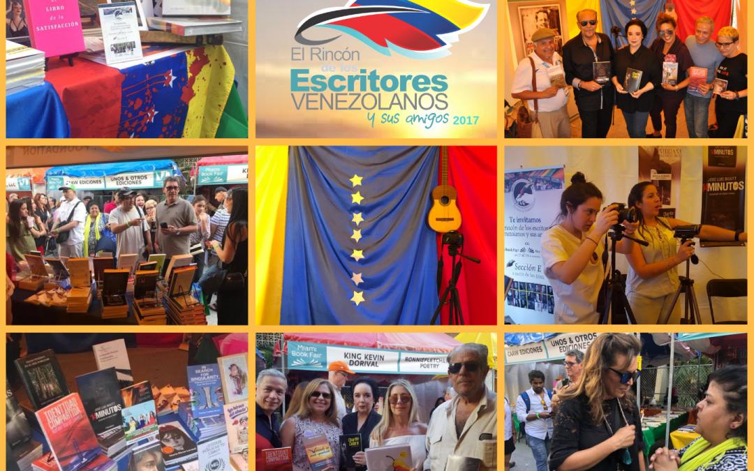 Todo listo para el rincón de los escritores venezolanos y sus amigos en Miami internacional Book Fair 2018