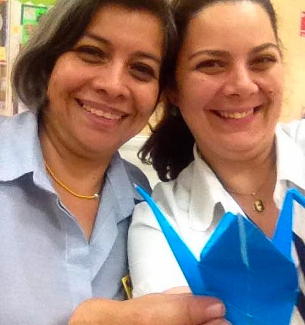 Ana Karinna Carbonini y Delia Jardim