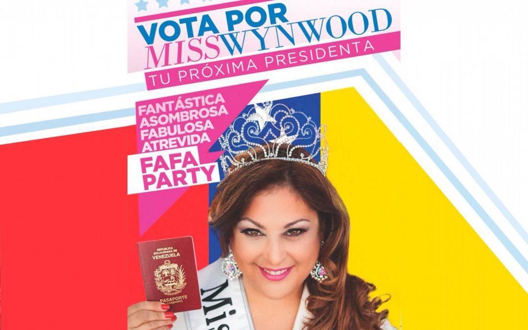 Miss Wynwood presenta su campaña presidencial en Bogotá