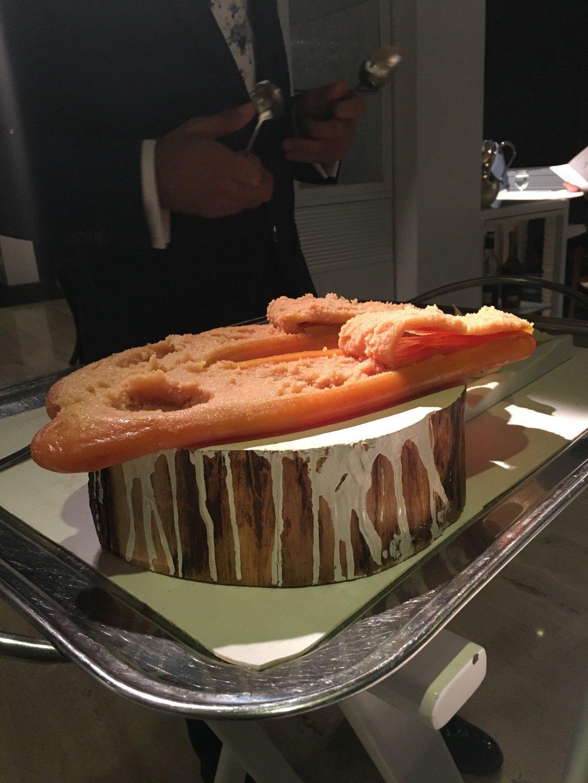 """""""Torta"""" de Hueva de Maruca en sal al aire"""""""