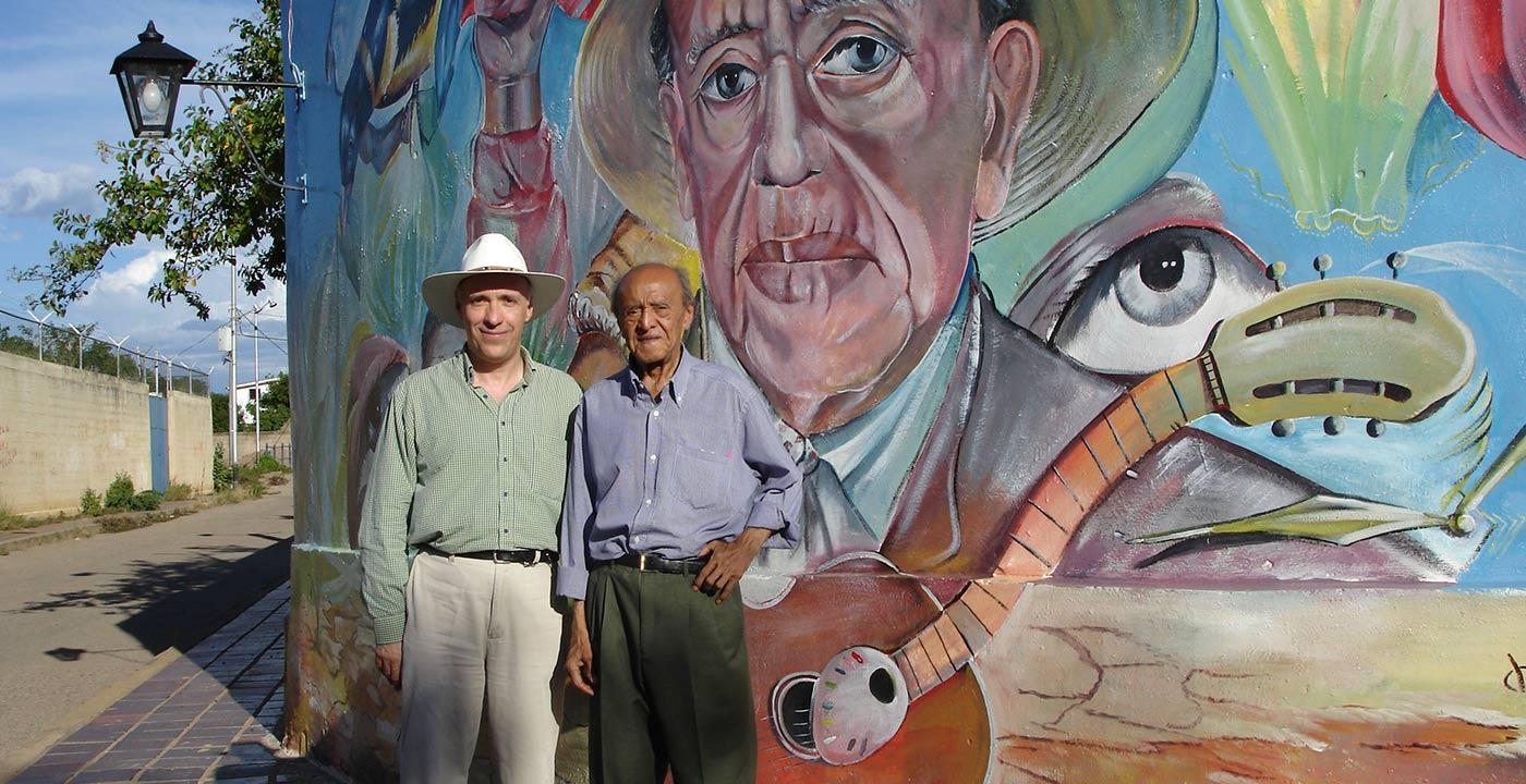 Carlos Bonell y Alirio Diaz, mural, Carora,Venezuela (2006)