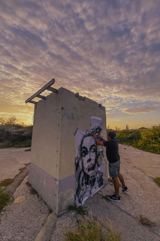 Frank Kelly Intervención pública. Graffiti 2021