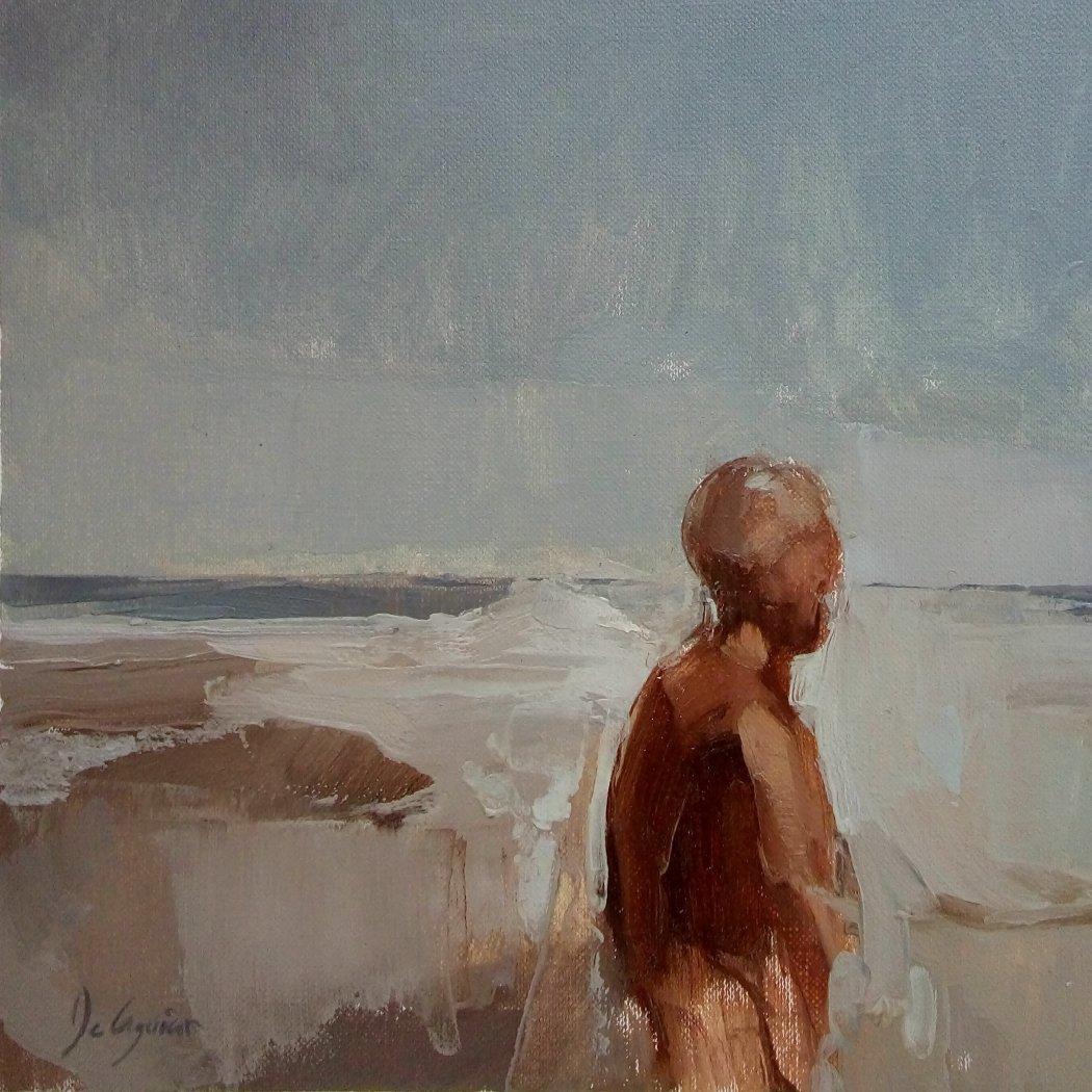 Hombre que contempla el mar