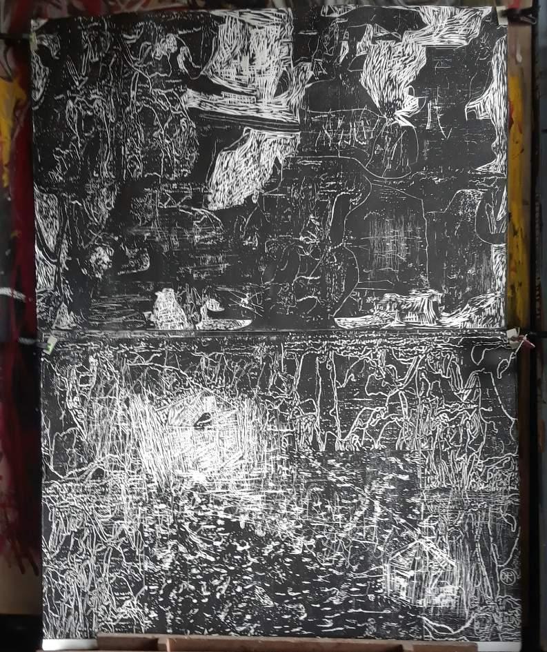 Foto 2 Octavio Russo Xilografía